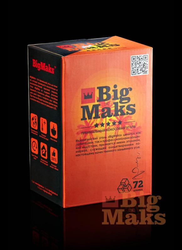 Кокосовый уголь для кальяна BigMaks Medium (куб 25 мм)